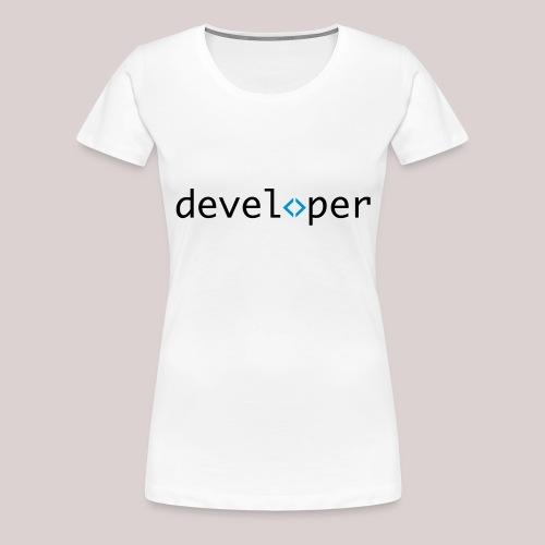 developer, coder, geek, hipster, nerd - Frauen Premium T-Shirt