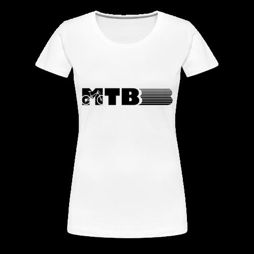 MTB Mountainbike Design - Frauen Premium T-Shirt