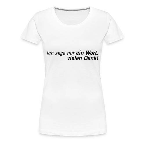 Fussball Fan Shirt - Andy Brehme - Danke! - Frauen Premium T-Shirt