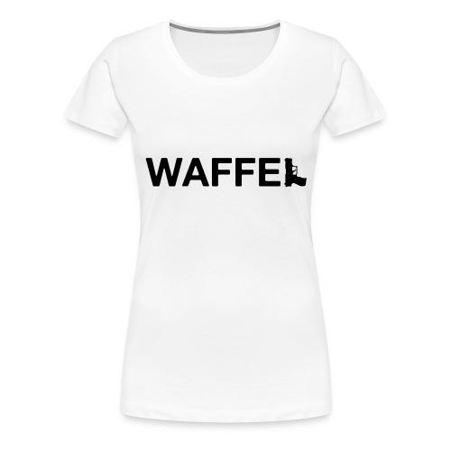 Waffel Waffe - Frauen Premium T-Shirt
