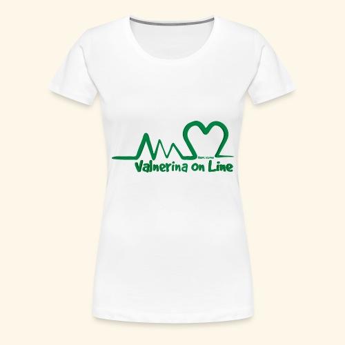 logo verde Associazione Valnerina On line - Maglietta Premium da donna