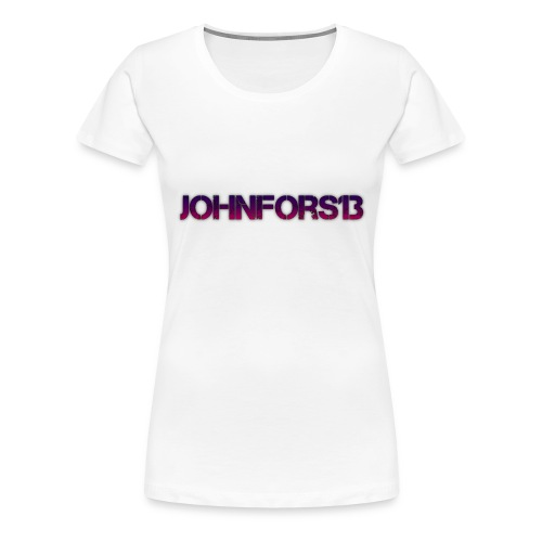 JohnFors13 Logo - Premium-T-shirt dam