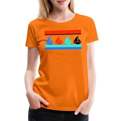 Segelboote Segelboot Segeln Maritim Boot Geschenk - Frauen Premium T-Shirt