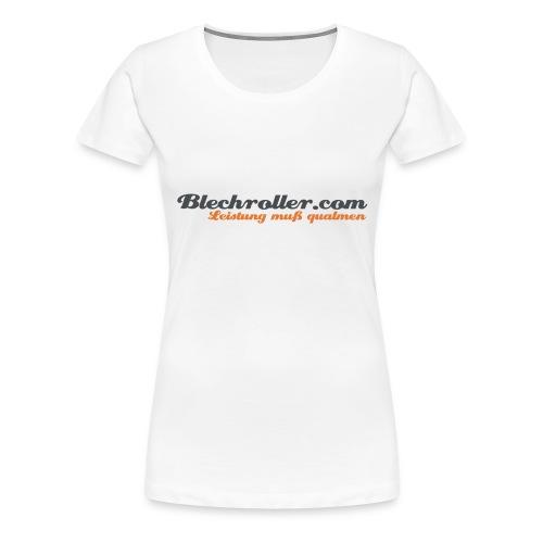 blechroller logo - Frauen Premium T-Shirt