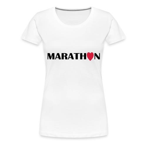 I love Marathon - Frauen Premium T-Shirt