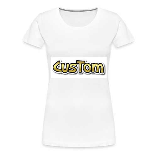CusTom GOLD LIMETED EDITION - Vrouwen Premium T-shirt