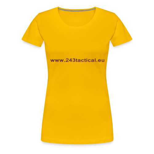 .243 Tactical Website - Vrouwen Premium T-shirt