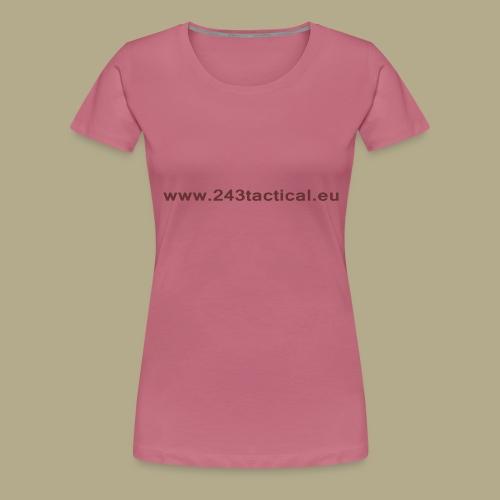 .243 Tactical Website - Vrouwen Premium T-shirt