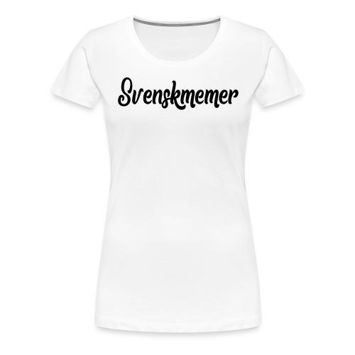 svenskmemer 3 - Premium-T-shirt dam