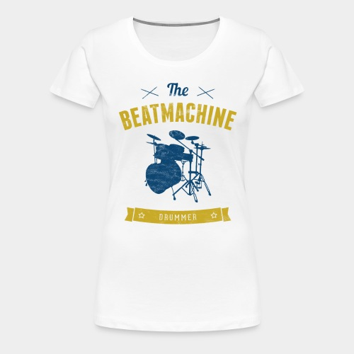 Schlagzeug Schlagzeuger Drummer Beat - Frauen Premium T-Shirt