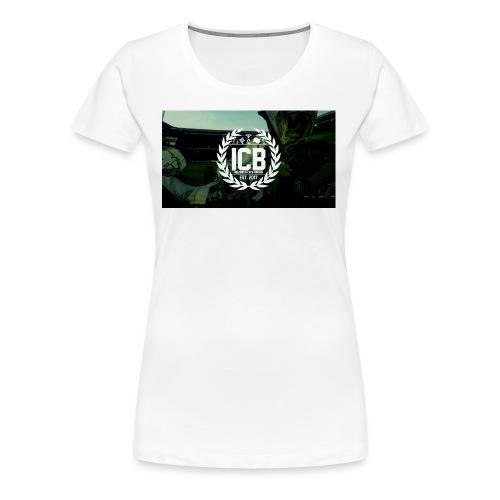 ICB Logo mit Hintergrund - Frauen Premium T-Shirt