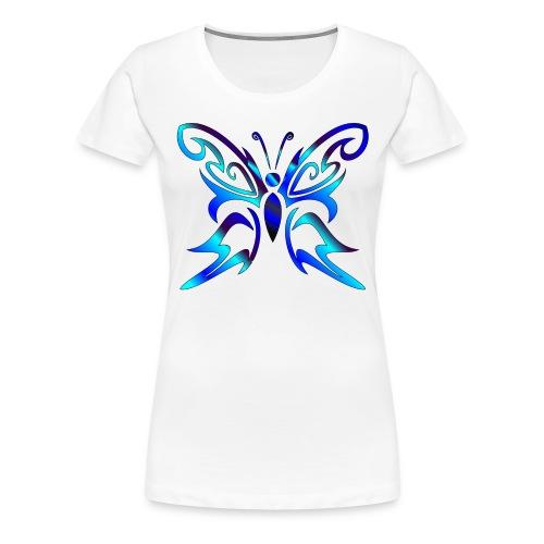Tribal Weiss- Schmetterling - Frauen Premium T-Shirt