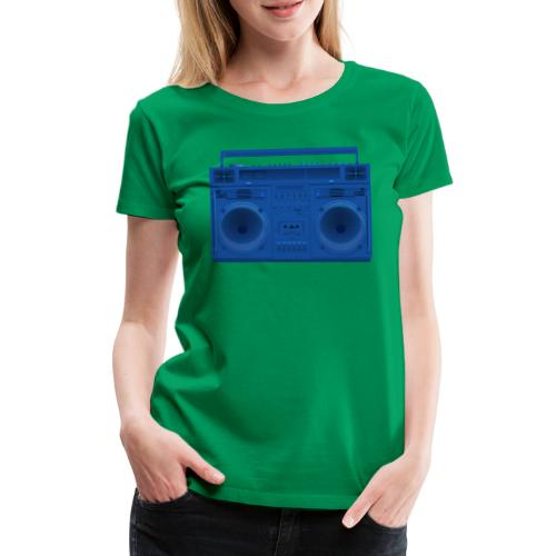 Bestes Stereo blau Design online - Frauen Premium T-Shirt