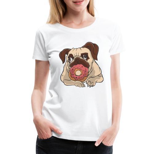 Beste Hund Hunde donut Mops - Frauen Premium T-Shirt