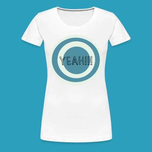 Yeah blauw png - Vrouwen Premium T-shirt