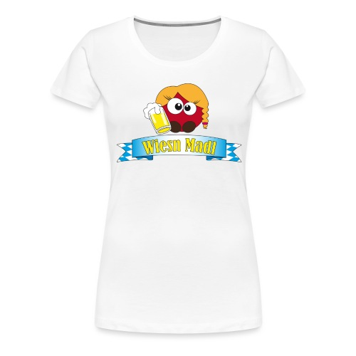 Wiesn Madl Pushy - Frauen Premium T-Shirt