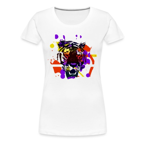 Tiger Splatter Motive - Women's Premium T-Shirt