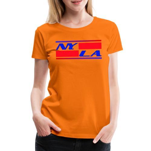 New York NY Los Angeles LA - Frauen Premium T-Shirt