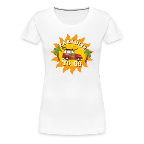 Paradise still bra för semester - Premium-T-shirt dam