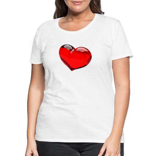 serce 3D - Koszulka damska Premium
