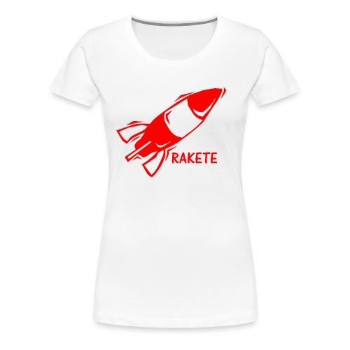 RAKETE Rocket Shirt in Rot - Frauen Premium T-Shirt