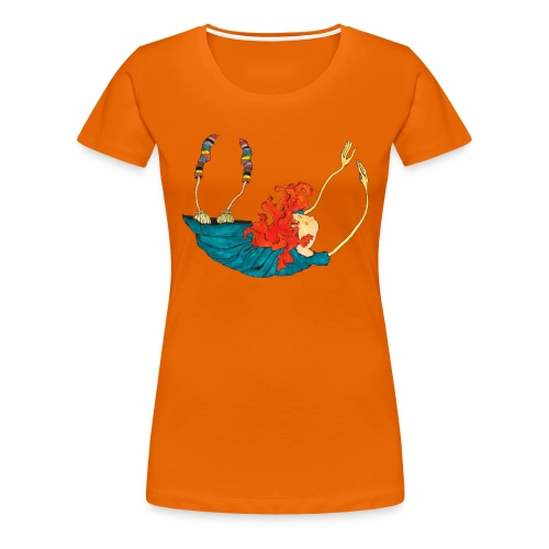 Frit fald - Dame premium T-shirt