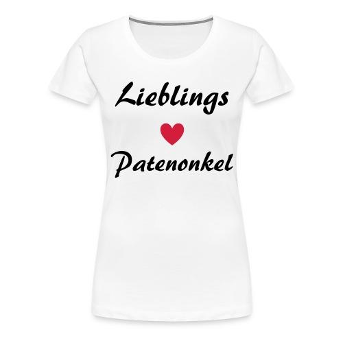 Lieblings Patenonkel mit Herz - Frauen Premium T-Shirt