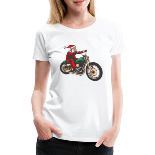 Cool Christmas Santa Motor Biker - Women's Premium T-Shirt