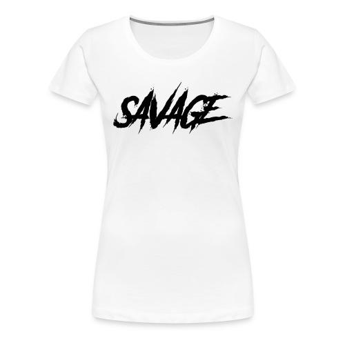 savage - Premium-T-shirt dam
