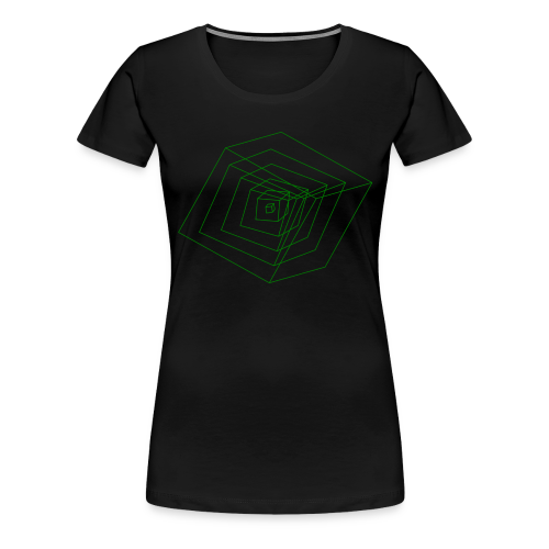 Cubes - T-shirt Premium Femme