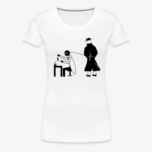 Pissing Man against animal testing. - Frauen Premium T-Shirt