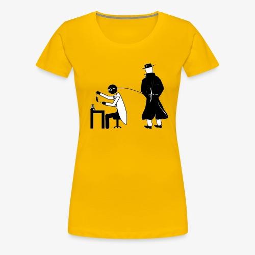 Pissing Man against animal testing. - Frauen Premium T-Shirt