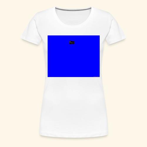 pucci blue background logo - Dame premium T-shirt