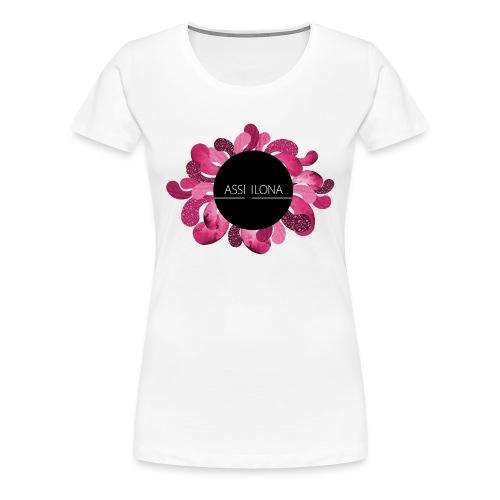 Toppi punaisella logolla - Naisten premium t-paita