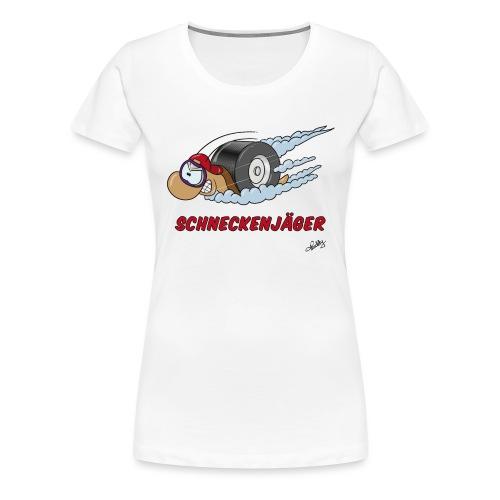 Schneckenjäger - Frauen Premium T-Shirt