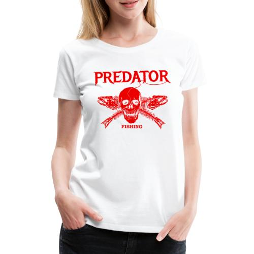Predator fishing red - Frauen Premium T-Shirt