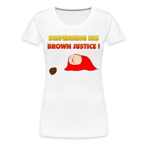 Flying Bum (diagonal) - with text - Women's Premium T-Shirt