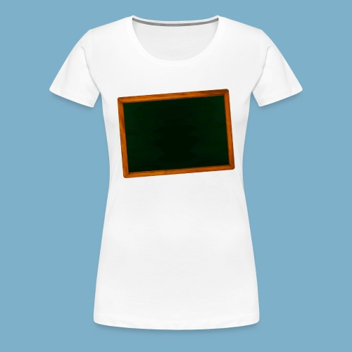 Schul Tafel - Frauen Premium T-Shirt