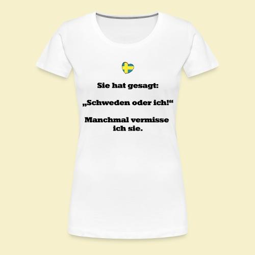 T-Shirt Schweden Herz schwarz für ihn - Frauen Premium T-Shirt