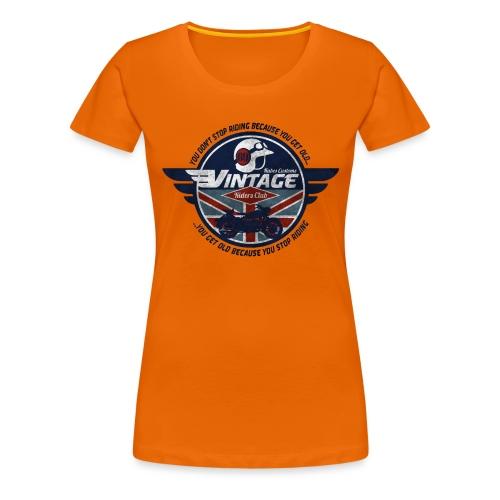 Kabes Vintage Riders Club - Women's Premium T-Shirt