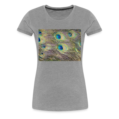 Peacock feathers - Naisten premium t-paita