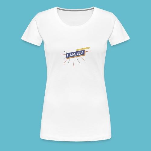 I AM LEV Banner - Vrouwen Premium T-shirt