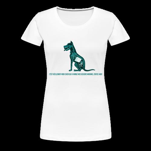 T-shirt femme imprimé Chien au Rayon-X - T-shirt Premium Femme