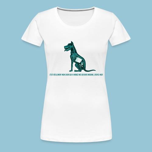 T-shirt pour homme imprimé Chien au Rayon-X - T-shirt Premium Femme