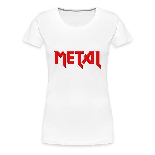 metal tee shirt - T-shirt Premium Femme
