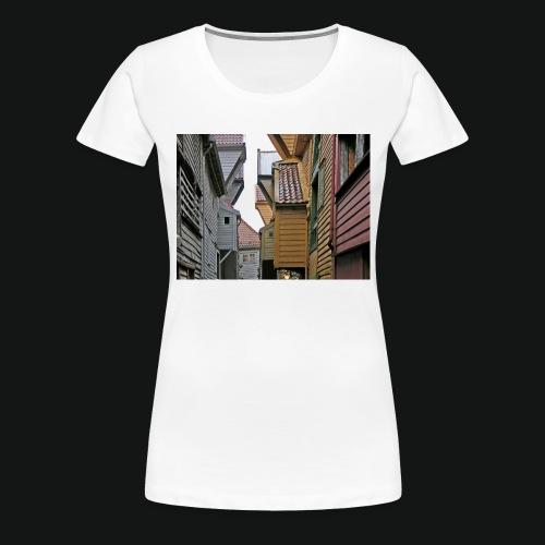 Brygen i Bergen - Premium T-skjorte for kvinner