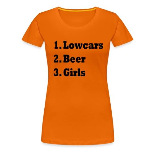 Lowcars Shirt - Vrouwen Premium T-shirt
