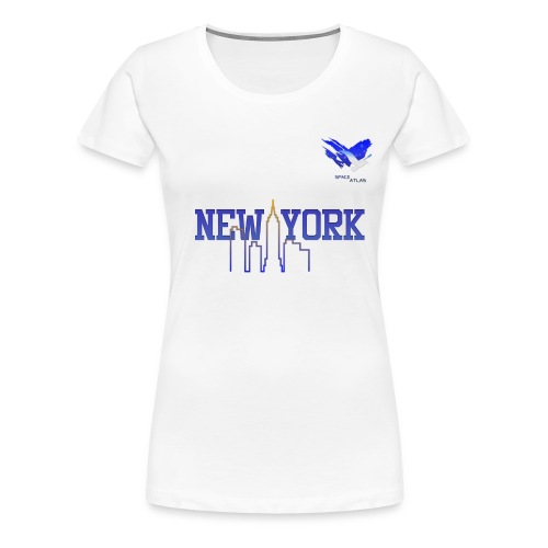 Space Atlas Baseball Shirt New York - Dame premium T-shirt