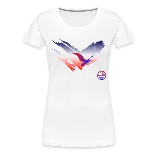 Space Atlas Tee America - Dame premium T-shirt