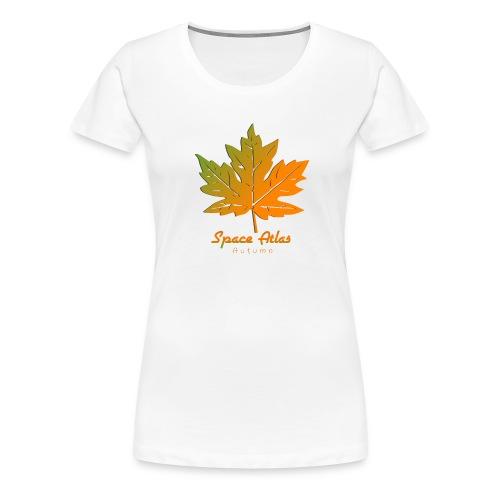 Space Atlas Long Sleeve T-shirt Autumn Leaves - Dame premium T-shirt
